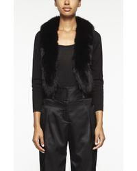Nicole Miller - Black Fox Fur Cardigan - Lyst