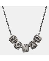 COACH - Metallic Nomad Block Letters Necklace - Lyst