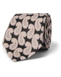 Gieves & Hawkes | Black Paisley-Patterned Linen Tie for Men | Lyst
