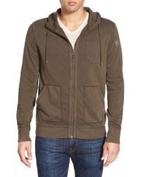 BOSS Orange | Brown 'ztylo' French Terry Zip Hoodie for Men | Lyst