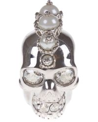 Alexander McQueen - Metallic Alexander McQueen Punk Skull Ring - Lyst