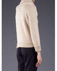 Bouchra Jarrar Natural Knit Maille Cardigan