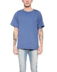 Sidian, Ersatz & Vanes - Blue Woven T-Shirt for Men - Lyst