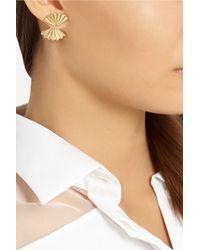 Anita Ko | Metallic Fan 18-Karat Gold Earrings | Lyst