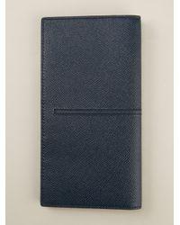 Tod's Blue Long Bifold Wallet for men