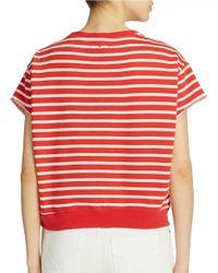 William Rast Red Striped Pullover