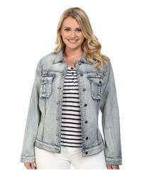 Kut From The Kloth Blue Plus Size Amelia Denim Jacket