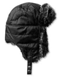 Banana Republic | Black Quilted Trapper Hat for Men | Lyst