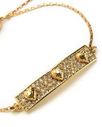 Juicy Couture | Metallic Pave Heart Slider Bracelet | Lyst
