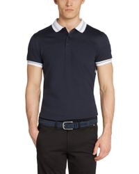BOSS Green - Blue 'paule' | Slim Fit, Moisture Manager Cotton Blend Polo Shirt for Men - Lyst