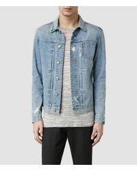 AllSaints | Blue Hisa Denim Jacket for Men | Lyst