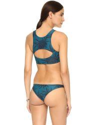 Mikoh Swimwear | Blue Marrakesh Crop Bikini Top | Lyst