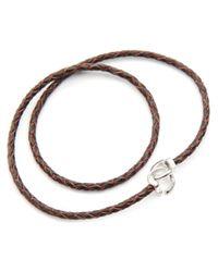Gilbert Gilbert   Jo12 Plaited Brown Bracelet for Men   Lyst