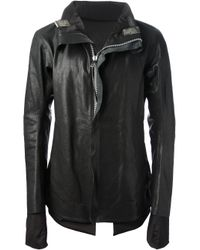 Boris Bidjan Saberi Black Buffalo Leather Jacket for men
