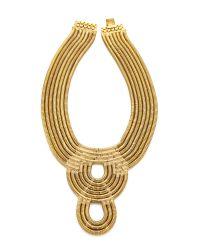 Auden | Metallic Lenox Bib Necklace - Gold | Lyst