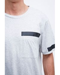 Cheap Monday Gray Stuck Pocket Tee In Grey for men