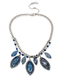Kenneth Cole | Blue Woven Faceted Bead Necklace for Men | Lyst