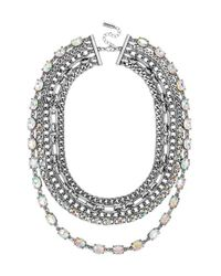 BaubleBar | Metallic 'Borealis Fringe' Multi-Layer Necklace - Iridescent/ Silver | Lyst