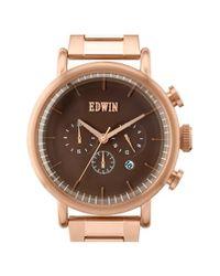 Edwin Pink Chronograph Bracelet Watch
