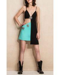 Fausto Puglisi - Black Embellished Cutout Dress - Lyst