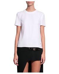 Versus - White Asymmetric Viscose T-shirt - Lyst