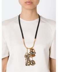 Marni | Black Crystal Pendant Necklace | Lyst
