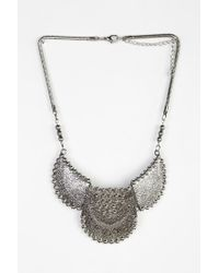 Urban Outfitters - Metallic Pebbled Plates Statement Necklace - Lyst