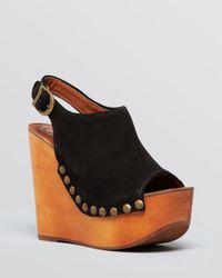 Jeffrey Campbell Black Platform Wedge Sandals  Snick