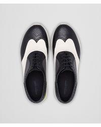 Bottega Veneta Black Nero Bianco Medium Grey Calf Sneaker for men