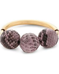 Marni   Metallic Leather Beaded Bracelet - For Women   Lyst