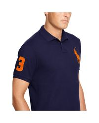 Pink Pony Blue Classic-fit Big Pony Polo for men