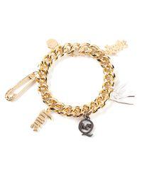 McQ   Metallic Charm Bracelet   Lyst