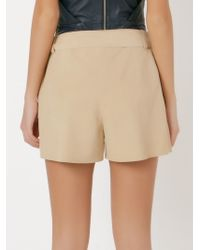 Giuliana Romanno | Natural Belt Leather Shorts | Lyst