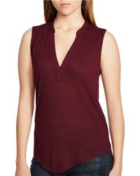 Polo Ralph Lauren | Purple Sleeveless Jersey Top | Lyst