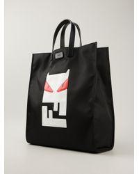 f2f270967844 Lyst - Fendi Bag Bugs Tote in Black for Men