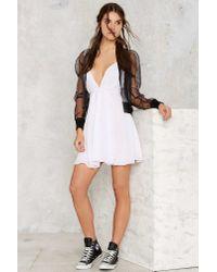 Nasty Gal | White Tie Hard Wrap Dress | Lyst