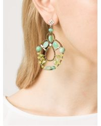 Ziio Blue Galaxy Criso Earrings