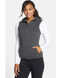 The North Face Gray 'caroluna' Reversible Hooded Vest