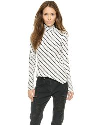 Bec & Bridge Black Northward Open Back Top - Stripe