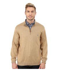 Vineyard Vines | Natural Cotton 1/4 Zip Shirt for Men | Lyst