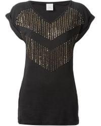 Pinko Black Sequin Embellished T-shirt