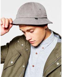 Brixton - Blue Banks Reverisble Bucket Hat for Men - Lyst