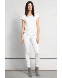 Rag & Bone | White Cropped Stretchtwill Leggings | Lyst