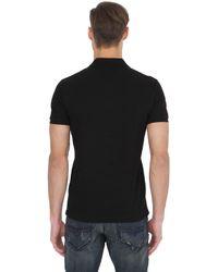 Moncler Black Logo Cotton Piqué Polo Shirt for men