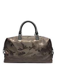 Michael Kors Green Camo Print Convertible Duffel Bag for men