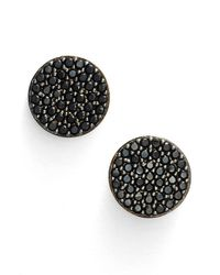 Nadri | Black 'geo' Stud Earrings | Lyst