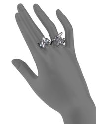 Alexis Bittar | Metallic Miss Havisham Liquid Crystal Broken Glass Double-Finger Ring | Lyst