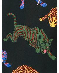 Stella McCartney Black Wild Cat Print Dress