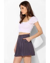 Kimchi Blue Purple Madeline Trouser Short