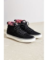 Vans | Black Sk8-hi Woven Chevron Mte Sneaker | Lyst